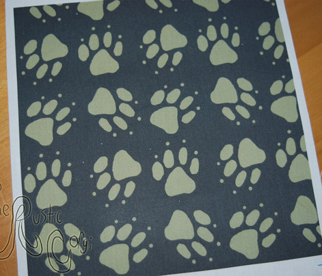 Simple Tote coordinating paw prints