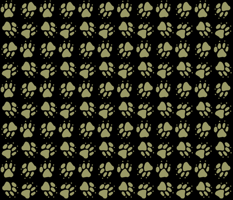 Simple Tote coordinating paw prints fabric by rusticcorgi on Spoonflower - custom fabric