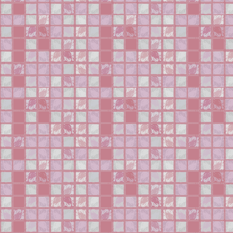 Pink Textured Tile © Gingezel™ 2012 fabric by gingezel on Spoonflower - custom fabric