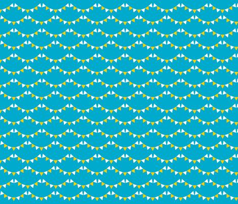Little Bunting Blue fabric by newmomdesigns on Spoonflower - custom fabric