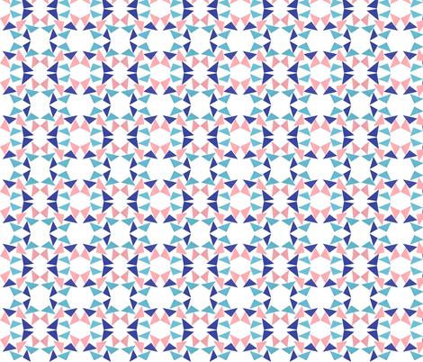 triangle pinkblue fabric by studiojelien on Spoonflower - custom fabric