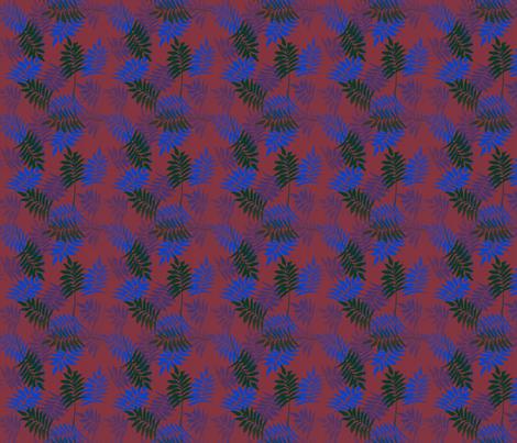 Kobalt leaves fabric by dervishheart on Spoonflower - custom fabric