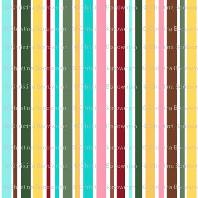 Cupcakes and Swirls Collection - Rainbow Stripes by JoyfulRose