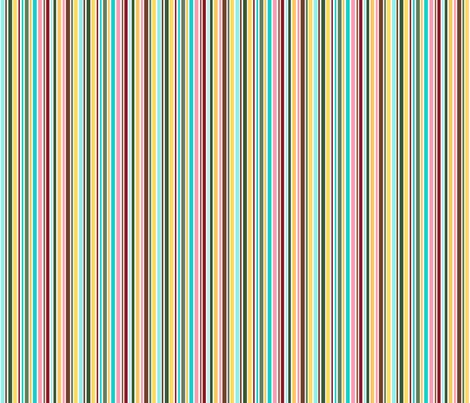 Cupcakes and Swirls Collection - Rainbow Stripes by JoyfulRose fabric by joyfulrose on Spoonflower - custom fabric