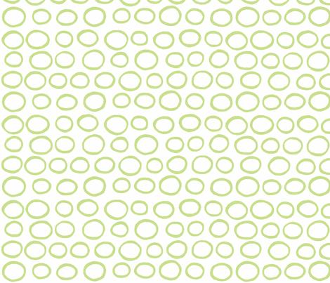Wobbly peas (lime) fabric by pattyryboltdesigns on Spoonflower - custom fabric