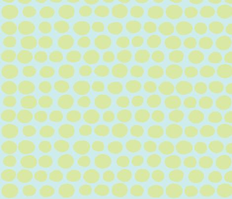 Wobbly Sweet Peas (light green & light aqua) fabric by pattyryboltdesigns on Spoonflower - custom fabric