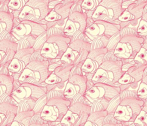 Ryukin Pink fabric by bonsaimechagirl on Spoonflower - custom fabric