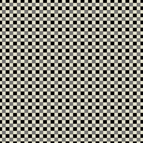 Petit_Check_Black fabric by hoodiecrescent&stars on Spoonflower - custom fabric