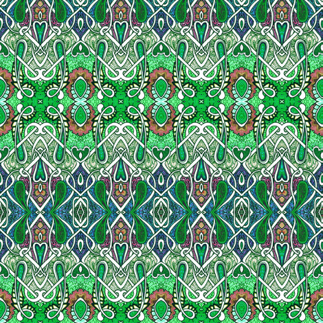 Zig Zag Clover All Over fabric by edsel2084 on Spoonflower - custom fabric