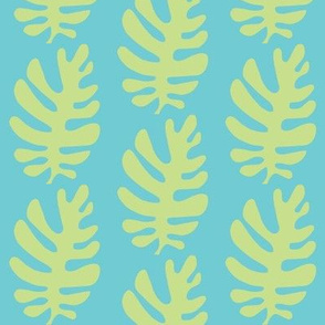 Funky Leaf (lime & deep aqua)