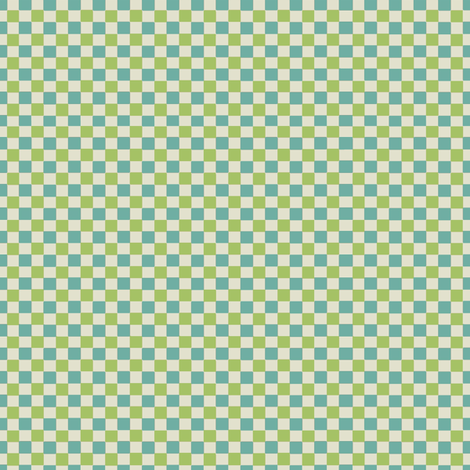 Petit_Check_green fabric by hoodiecrescent&stars on Spoonflower - custom fabric