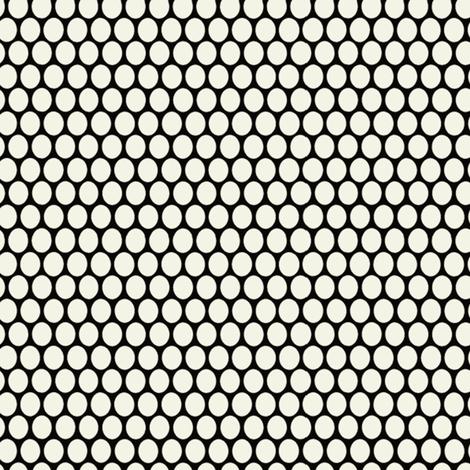 Egg Dot / Black & White fabric by hoodiecrescent&stars on Spoonflower - custom fabric