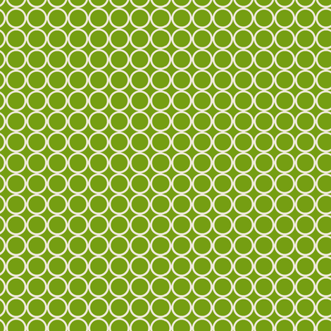 Hoop Dot / Lime fabric by hoodiecrescent&stars on Spoonflower - custom fabric