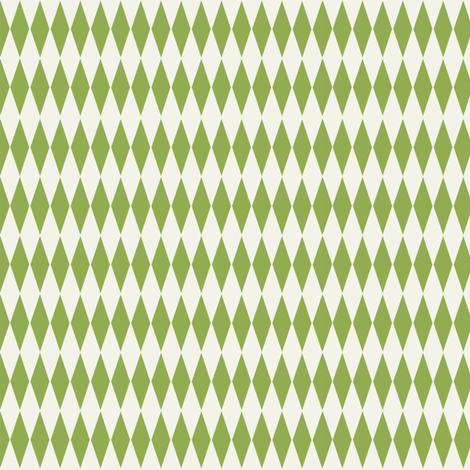 Diamond_check__Lime fabric by hoodiecrescent&stars on Spoonflower - custom fabric
