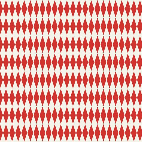 Diamond_check_red fabric by hoodiecrescent&stars on Spoonflower - custom fabric