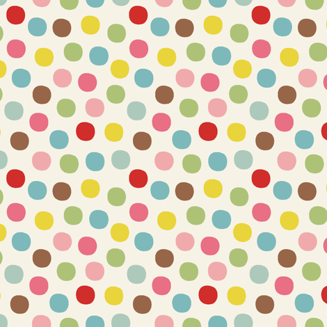 Candy_dot_cream fabric by hoodiecrescent&stars on Spoonflower - custom fabric