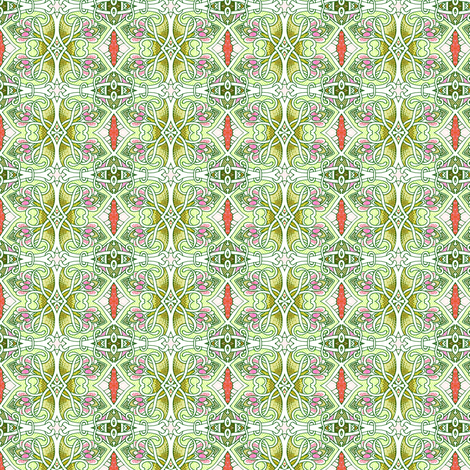 Mint Tango Tangle fabric by edsel2084 on Spoonflower - custom fabric