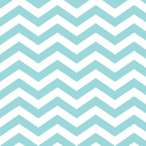 Chevron in Aqua