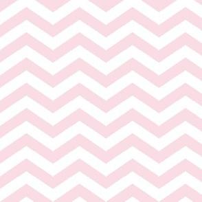 Chevron in Blush Pink