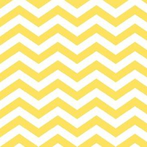 Chevron in Lemon Yellow