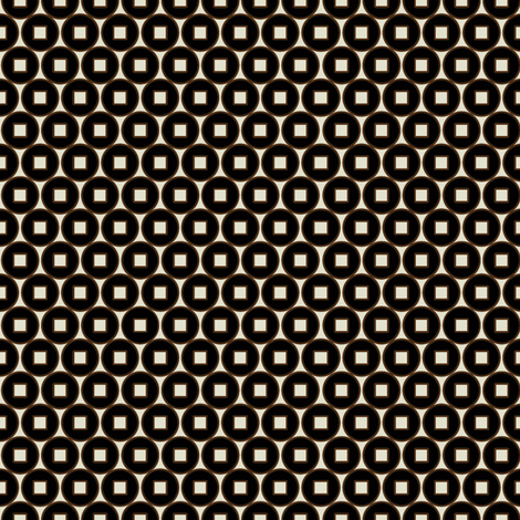 Coin_Black fabric by hoodiecrescent&stars on Spoonflower - custom fabric
