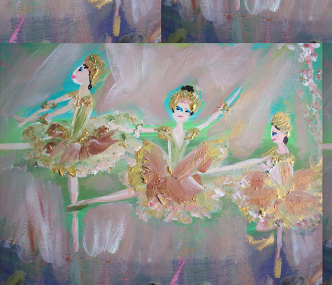 Chocolate Ballet fabric by myartself on Spoonflower - custom fabric