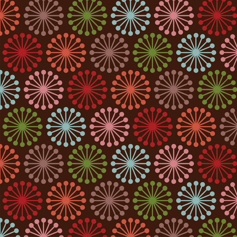 Cheer_Wheel__Brown fabric by hoodiecrescent&stars on Spoonflower - custom fabric