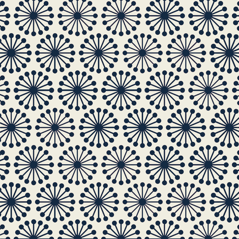 Cheer_Wheel__Navy_ fabric by hoodiecrescent&stars on Spoonflower - custom fabric