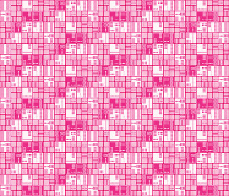 Pink Urban Grid © Gingezel™ 2012 fabric by gingezel on Spoonflower - custom fabric