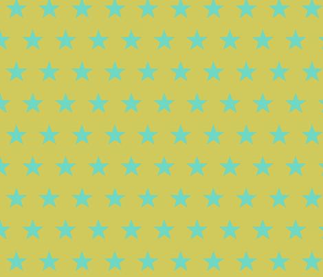 star yellow teal fabric by katarina on Spoonflower - custom fabric