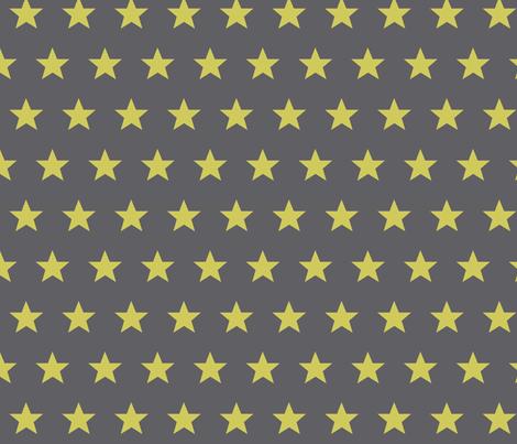 star grey yellow fabric by katarina on Spoonflower - custom fabric