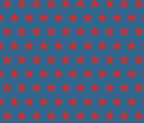 star blue red fabric by katarina on Spoonflower - custom fabric