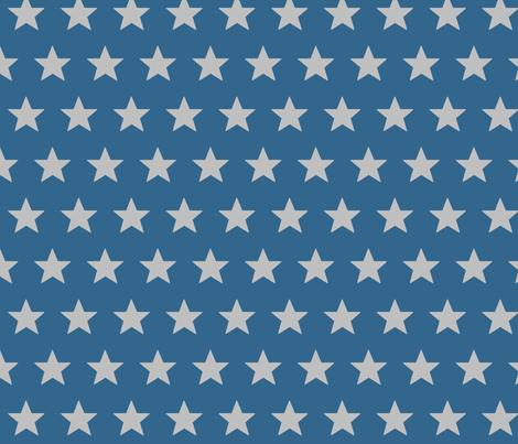 star blue grey fabric by katarina on Spoonflower - custom fabric