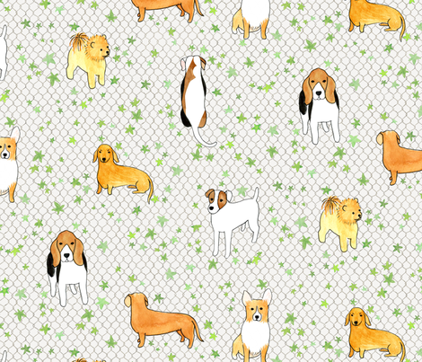 City Dog fabric by siankeegan on Spoonflower - custom fabric