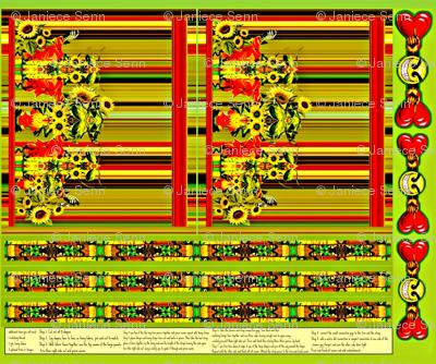 Sunflower Friends Fabric bag design.(small version)