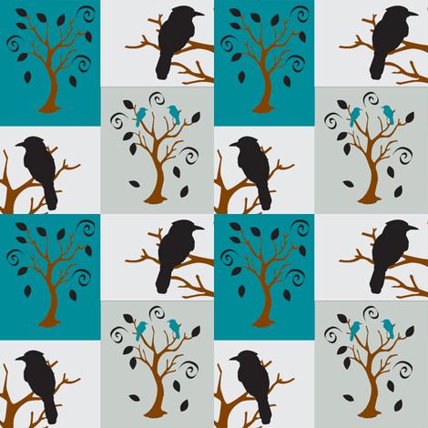 Sway tree bird-n-branch fabric by amy_frances_designs on Spoonflower - custom fabric