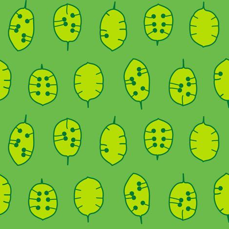 Honesty (Green) fabric by nekineko on Spoonflower - custom fabric