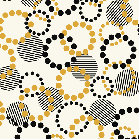 Fun_Dots_yellow fabric by hoodiecrescent&stars on Spoonflower - custom fabric