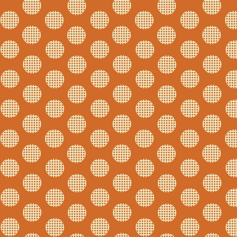 Waffle_Orange fabric by hoodiecrescent&stars on Spoonflower - custom fabric