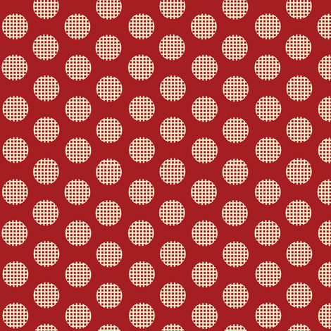 Waffle_Red fabric by hoodiecrescent&stars on Spoonflower - custom fabric