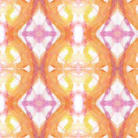 LilahWatercolor4 fabric by ghennah on Spoonflower - custom fabric
