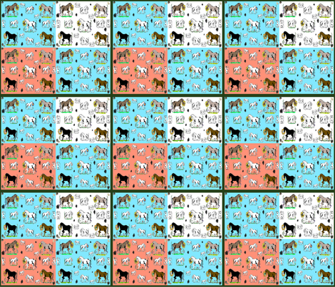StonyPony fabric by timberbells on Spoonflower - custom fabric