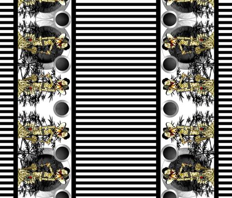 Goatessa large border fabric fabric by whimzwhirled on Spoonflower - custom fabric
