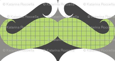 mustache repeat pattern green