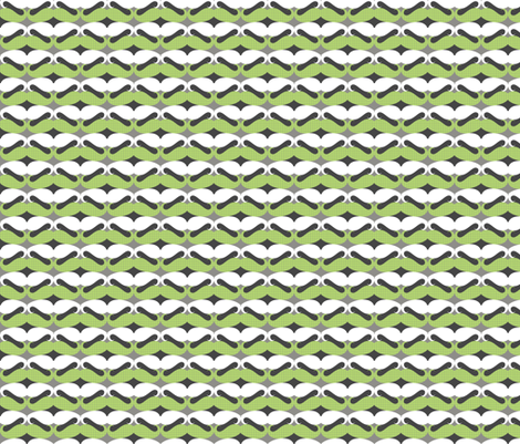 mustache repeat pattern green fabric by katarina on Spoonflower - custom fabric
