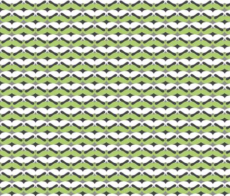 mustache repeat pattern green fabric by katarina on Spoonflower - custom fabric