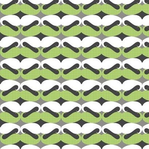 mustache repeat pattern green