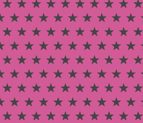 star pink grey fabric by katarina on Spoonflower - custom fabric