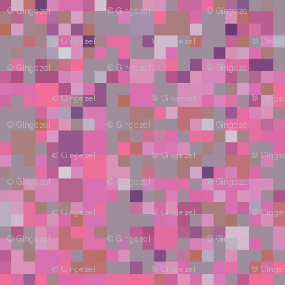 Pink Purple and Gray Check © Gingezel™ 2012