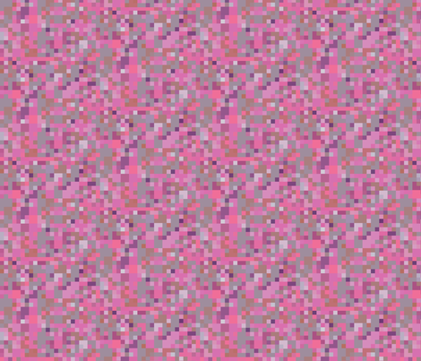 Pink Purple and Gray Check © Gingezel™ 2012 fabric by gingezel on Spoonflower - custom fabric